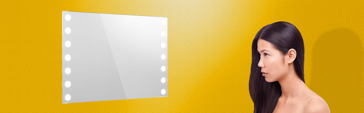 Lighted Mirror Insert. Design you own